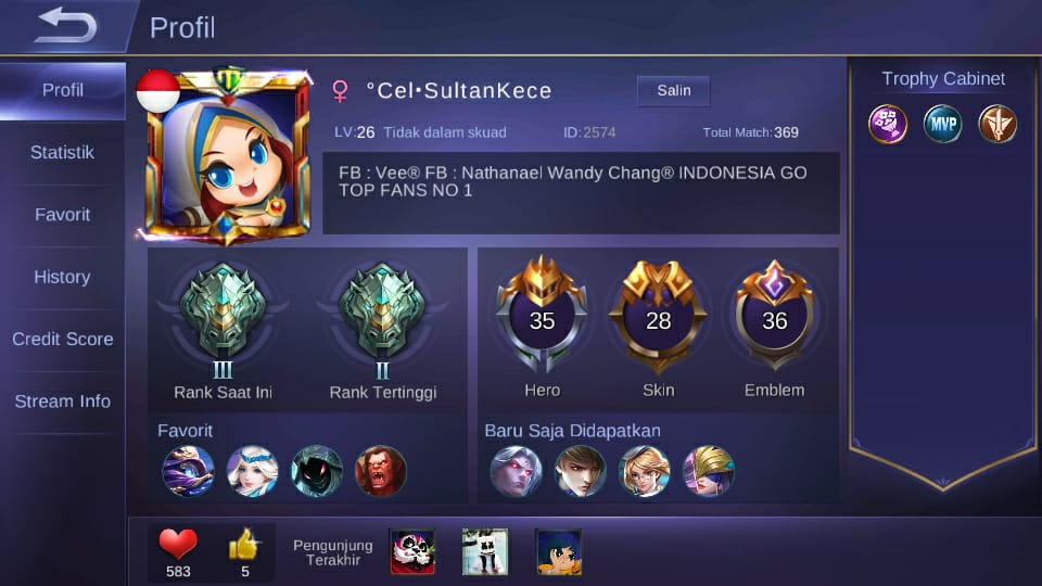 Sultan Mobile Legends Sultan Kece