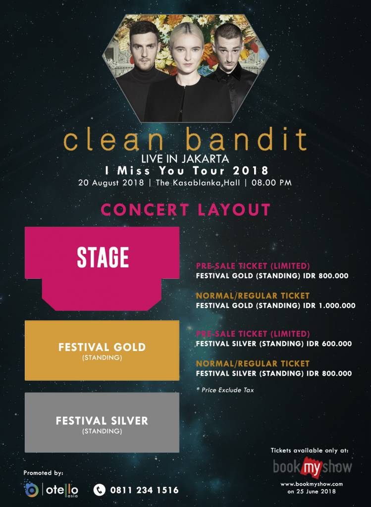 Clean Bandit 2018 CONCERT LAYOUT