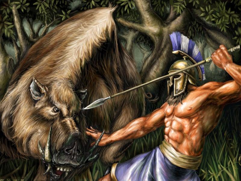 Kisah 12 Tugas Yang Harus Diselesaikan Oleh Hercules Dalam Mitologi Yunani! Erymantus Boar