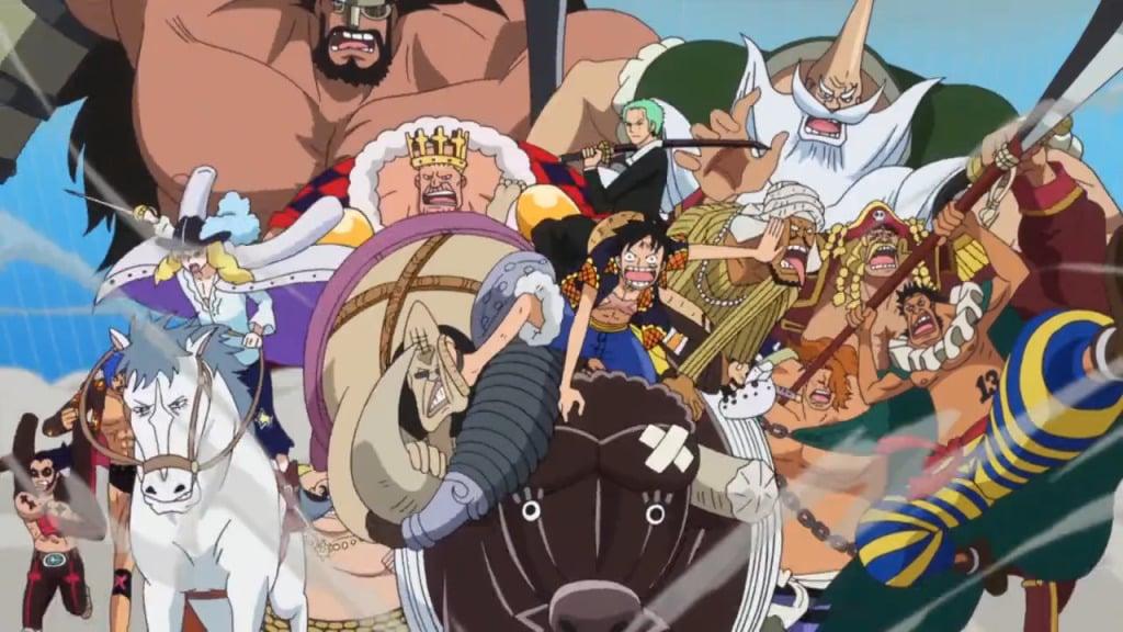 Luffy Paling Banyak Mengeluarkan Pasukan Melawan Kaido
