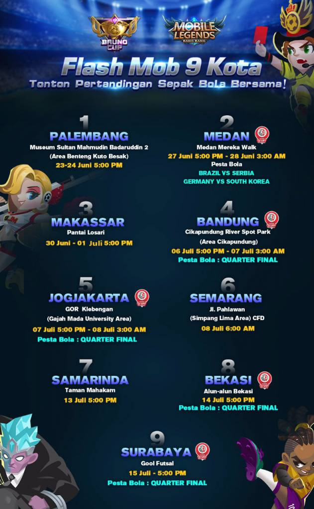 Revisi Mobile Legends Jadwal Flashmob Dan Nobar Piala Dunia