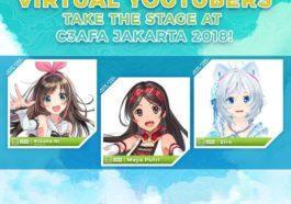 C3AFAJKT IMG AKIBA STAGE Virtual Youtuber (Kizuna AI, Maya Putri & Siro)