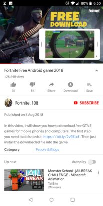 Fake Fortnite Android 2