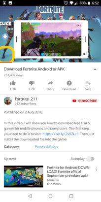 Fake Fortnite Android