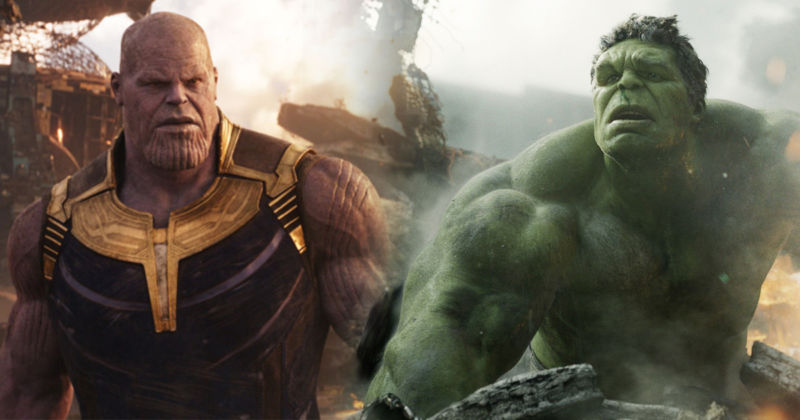 Thanos Vs Hulk Infinity War
