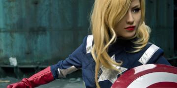Captain America Wanita Orang Amerika Afrika