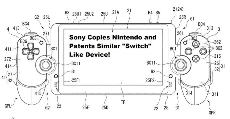 Sony Switch Like Patent Device Copies Nintendo Switch