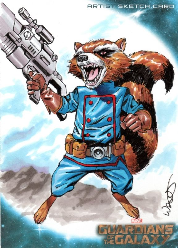 Anggota Guardians Of The Galaxy Rocket Raccoon