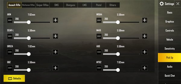Rekomendasi Dan Cara Setting Auto Pick Up Terbaik PUBG Mobile! Assault