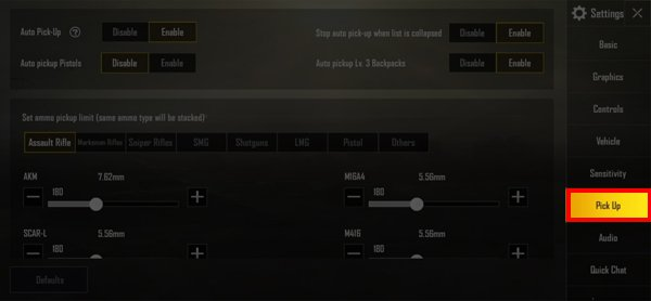 Rekomendasi Dan Cara Setting Auto Pick Up Terbaik PUBG Mobile! Setting Pick Up