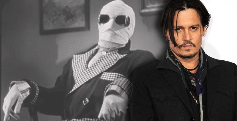 Invisible Man Sutradara Johnny Depp