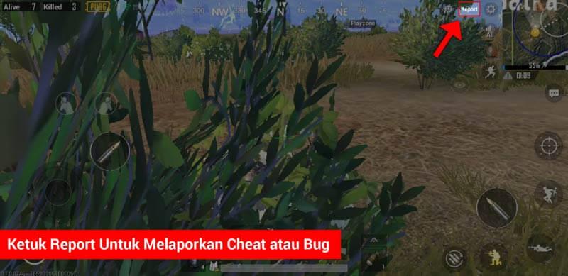 Cara Report Cheater Dan Bug Di Pubg Mobile (1)