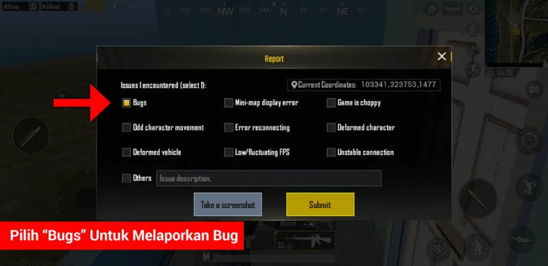 Cara Report Cheater Dan Bug Di Pubg Mobile (4)