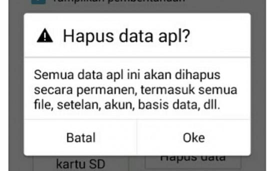 Hapus Data Game