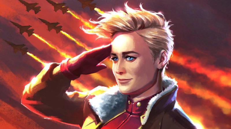 Desain Awal Captain Marvel