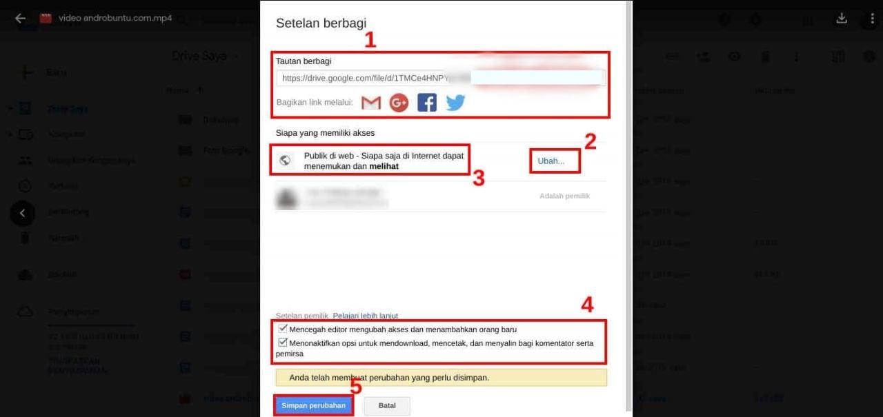 Cara Memasukkan Video Dari Google Drive Ke Website (2)