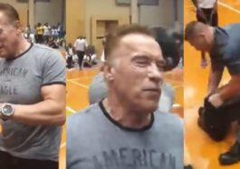 Arnold Schwarzeneger Diserang