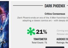 Dark Phoenix Rotten Tomatoes