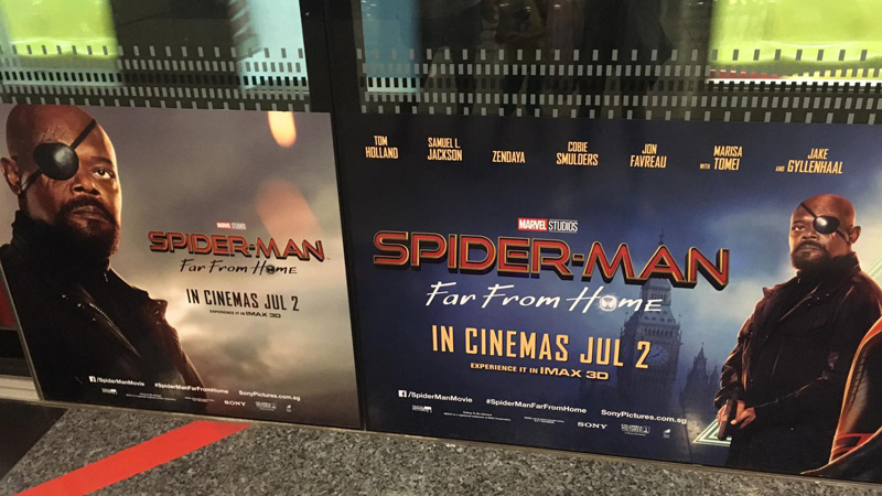 Poster Spider Man Far From Home Nick Fury