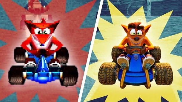 Berubah total, inilah perbandingan grafis ctr versi remake vs versi playstation 1! dafunda