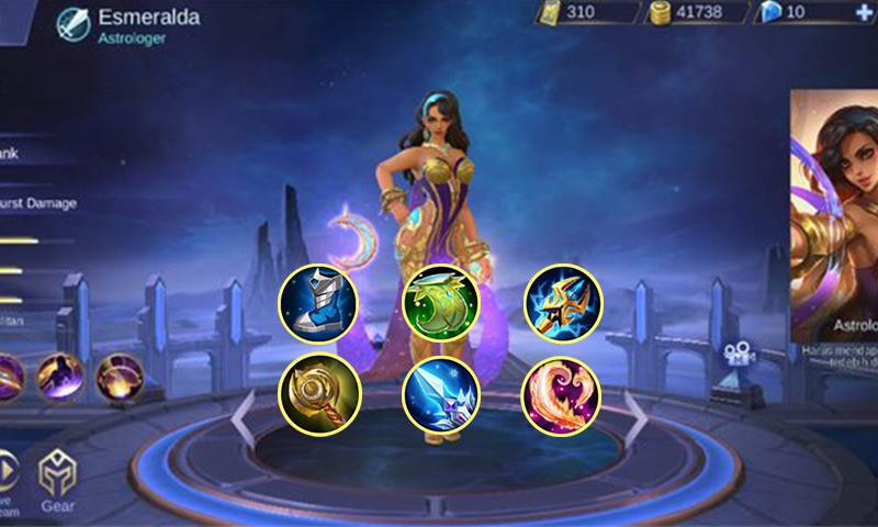 Build esmeralda mobile legends item
