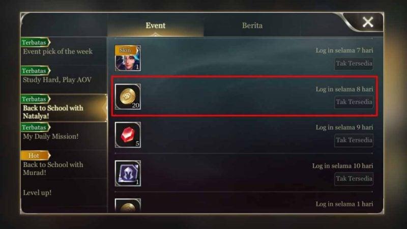 Cara mendapatkangold arena of valor 3