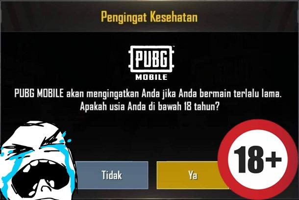 Pubg mobile memperingati berhenti bermain untuk umur 18 tahun kebawah