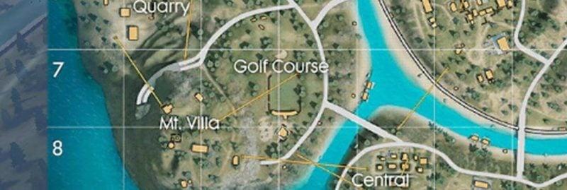 Tempat landing dihindari golf corse