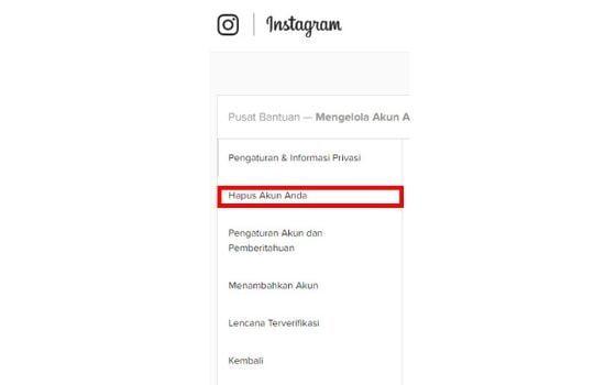 Cara Menghapus Akun Instagram Melalui Pc Atau Laptop (6)