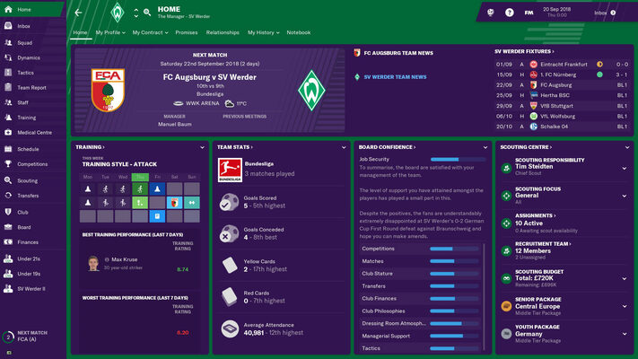 Game Simulator Football Manager