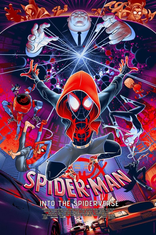 Into The Spider Verse Poster Limited