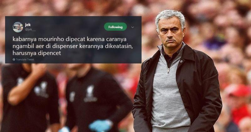 10 Cuitan Lucu 'Alasan Mourinho Dipecat' Ini Bikin Ngakak Tapi Nyesek! Dafunda Gokil