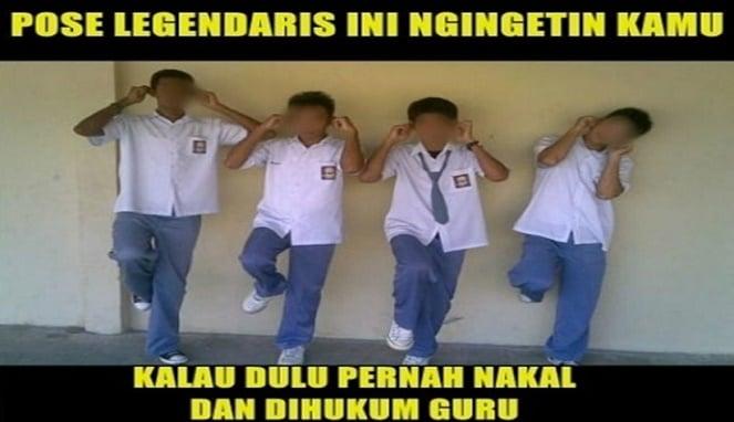 10 Meme Lucu Hukuman Zaman Sekolah Yang Tidak Bisa Dilupakan Ini Bikin Nostalgia Sambil Ngakak! Pose Legendaris