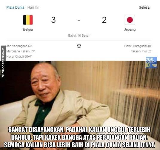 10 Meme Lucu Kekalahan Jepang Vs Belgia Ini Dijamin Bikin Ngakak! 1