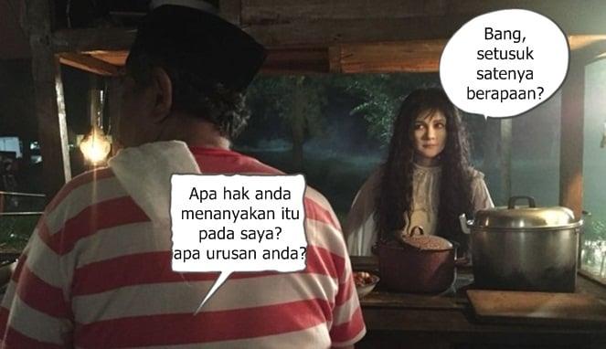 10 Meme Lucu 'Suzanna Dan Tukang Sate' Ini Bukannya Bikin Takut, Malah Ngakak! Apa Hak Anda