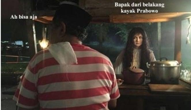 10 Meme Lucu 'Suzanna Dan Tukang Sate' Ini Bukannya Bikin Takut, Malah Ngakak! Prabowo