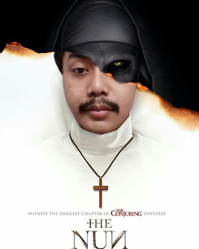 15 Kreasi Netizen Dandan Ala Hantu Valak Di Film The Nun Ini Bikin Ngakak! Kumis