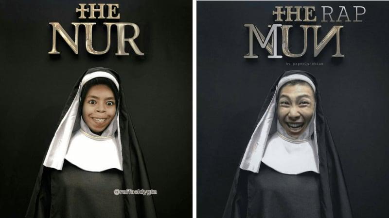 15 Kreasi Netizen Dandan Ala Hantu Valak Di Film The Nun Ini Bikin Ngakak! Dafunda Gokil