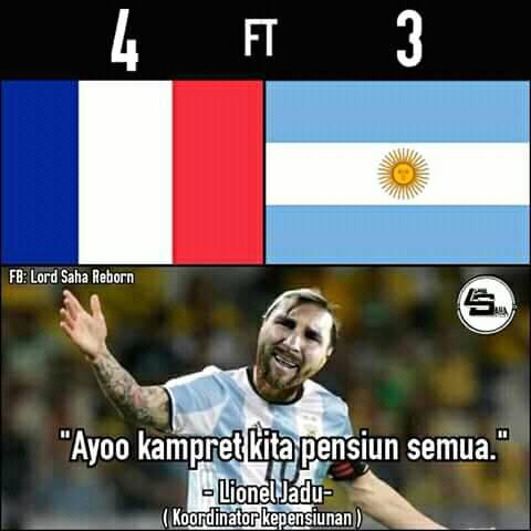 8 Meme Lucu Kekalahan Argentina Vs Perancis Ini Dijamin Bikin Ngakak! 5