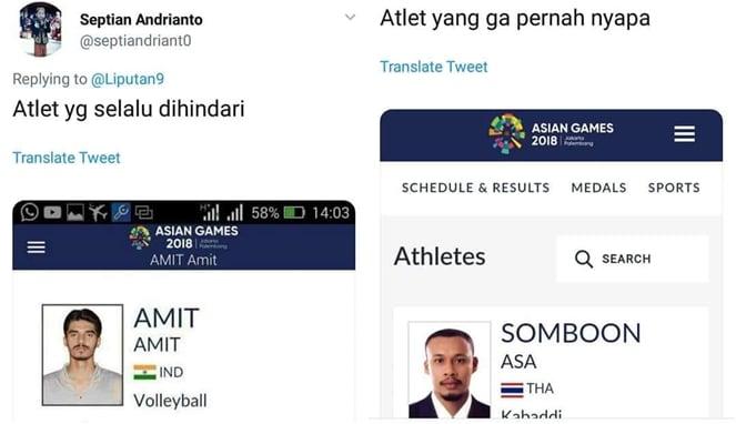 Begini Jadinya Jika 22 Nama Atlet Asian Games 2018 Dijadikan Meme, Bikin Ngakak! Amit Amit