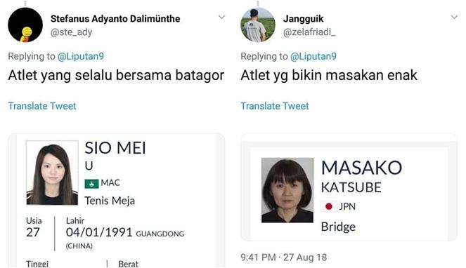 Begini Jadinya Jika 22 Nama Atlet Asian Games 2018 Dijadikan Meme, Bikin Ngakak! Laper