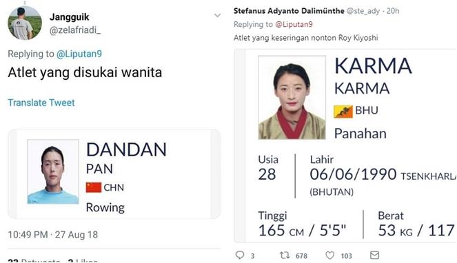 Begini Jadinya Jika 22 Nama Atlet Asian Games 2018 Dijadikan Meme, Bikin Ngakak! Roy Kiyoshi