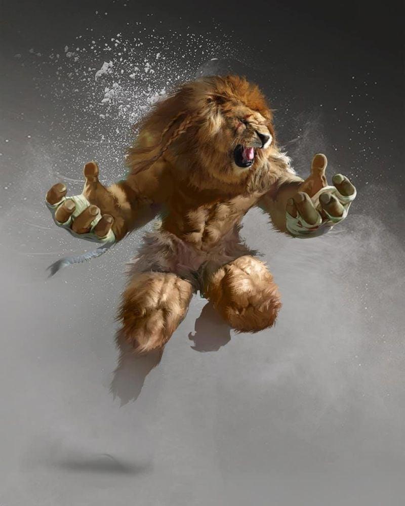Bikin Merinding, Beginilah 10 Ilustrasi Jika Mahluk Mitologi Ada Di Dunia Nyata! Monster Singa
