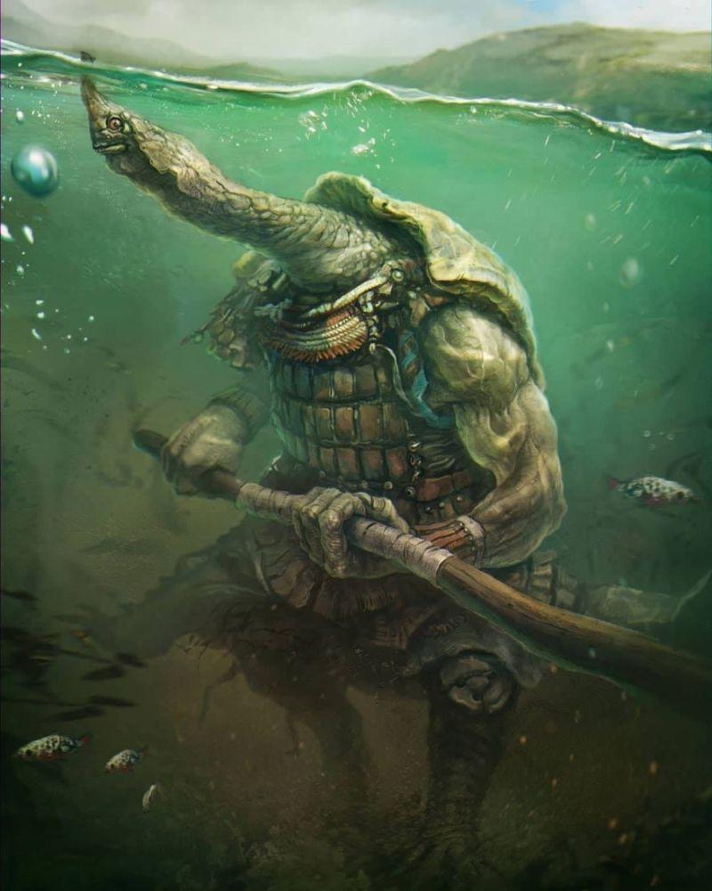 Bikin Merinding, Beginilah 10 Ilustrasi Jika Mahluk Mitologi Ada Di Dunia Nyata! Penyu Penjaga Laut