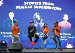 BincangShopee Suasana Talk Show Bersama Frans Sanjaya, Adhisty Zara, Dan Rezki Yanuar