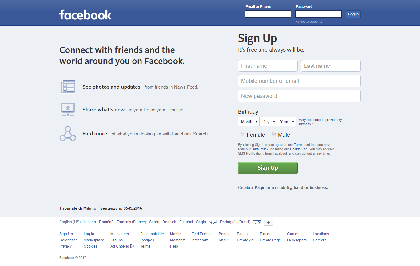 Facebook With CSS Min