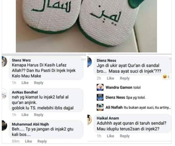 Heboh! Ada Sandal Jepit Bertuliskan Huruf Arab, Netizen Ngamuk Disangka Ayat Suci Padahal Artinya Begini Dafunda