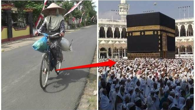 Kisah Haru Nenek Penjual Bunga Yang Rela Kayuh Sepeda 20 KM Demi Naik Haji Ke Mekkah! Dafunda Gokil