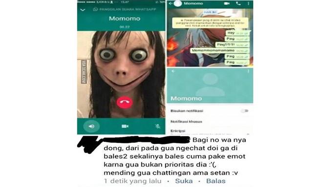Malah Dibully, 8 Chat Netizen Dengan Momo Challenge Ini Malah Bikin Ngakak! Jomblo Ngenes