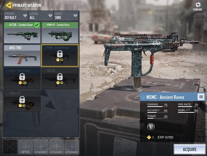 Senjata Terbaik CODM MSMC